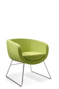 Splash Cube Chair Green