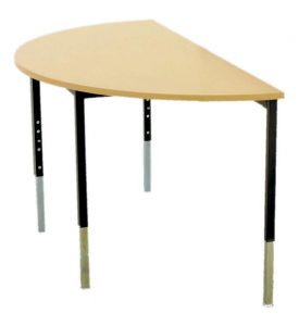 D20Shaped20Table20with20adjustable20legs
